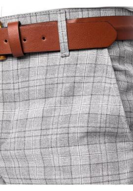 Elegantné pánske nohavice svetlosivej farby so vzorom