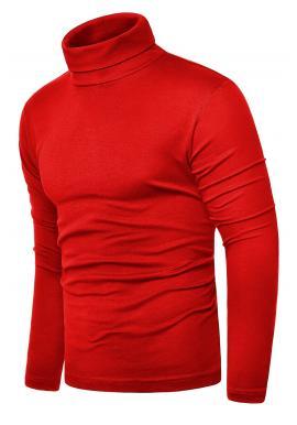 Pánsky klasický bavlnený rolák v červenej farbe