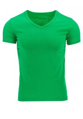 Pánske tričko s V-ovým výstrihom v zelenej farbe