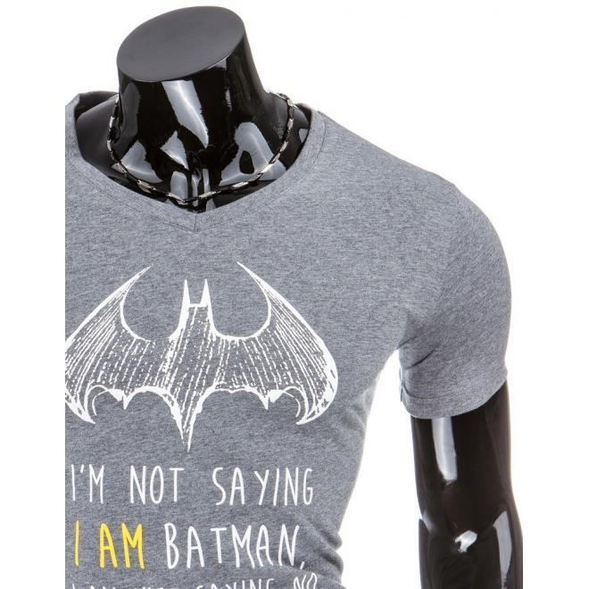Pánske tričko v tmavomodrej farbe s motívom Batmana