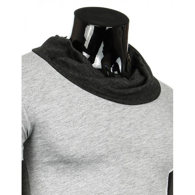 Tričko pre pánov sivej farby s rolákom