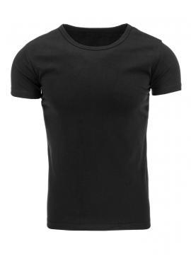 Klasické pánske tričko čiernej farby s krátkym rukávom