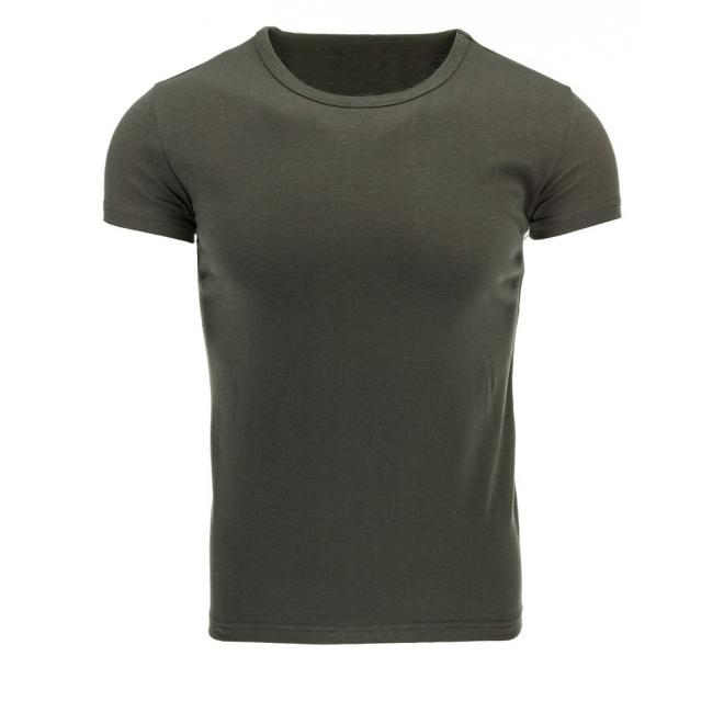 Klasické pánske tričko zelenej farby s krátkym rukávom