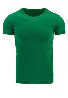 Zelené tričko s okrúhlym výstrihom pre pánov