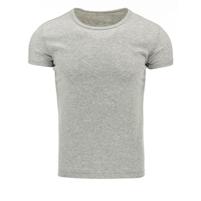 Pánske tričko s krátkym rukávom v sivej farbe