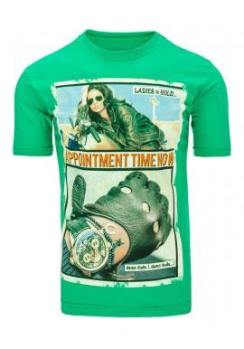 Zelené tričko s potlačou pre pánov