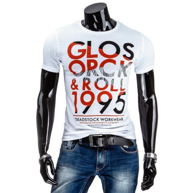 Sivé tričko s farebným nápisom pre pánov