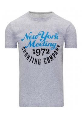 Pánske tričko s potlačou v sivej farbe
