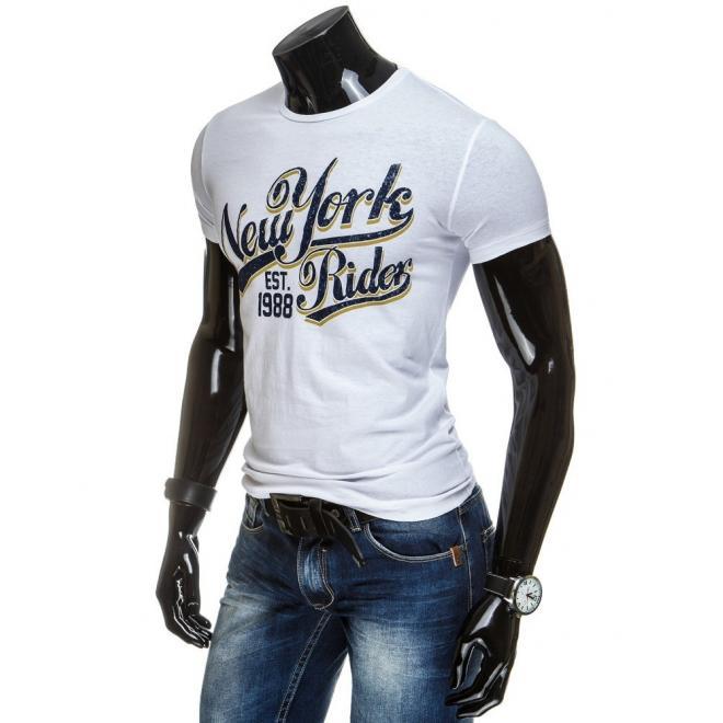 Pánske tričko s potlačou v čiernej farbe