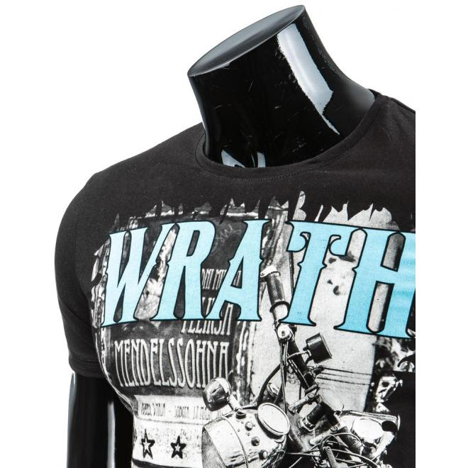 Tričko pre pánov s potlačou v čiernej farbe