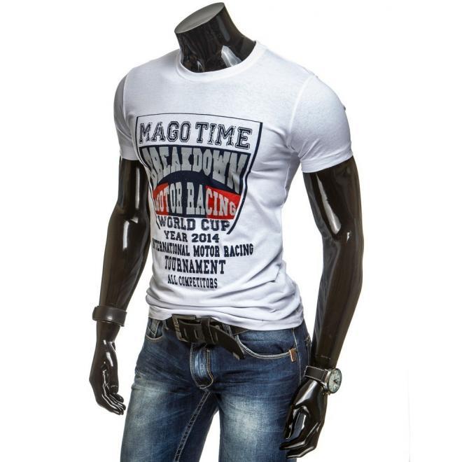 Pánske tričko sivej farby s potlačou