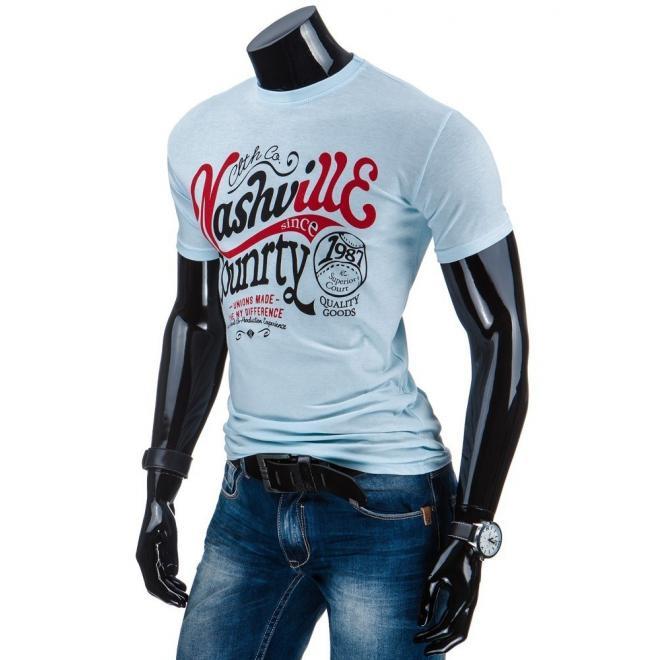 Modré tričko s potlačou pre pánov