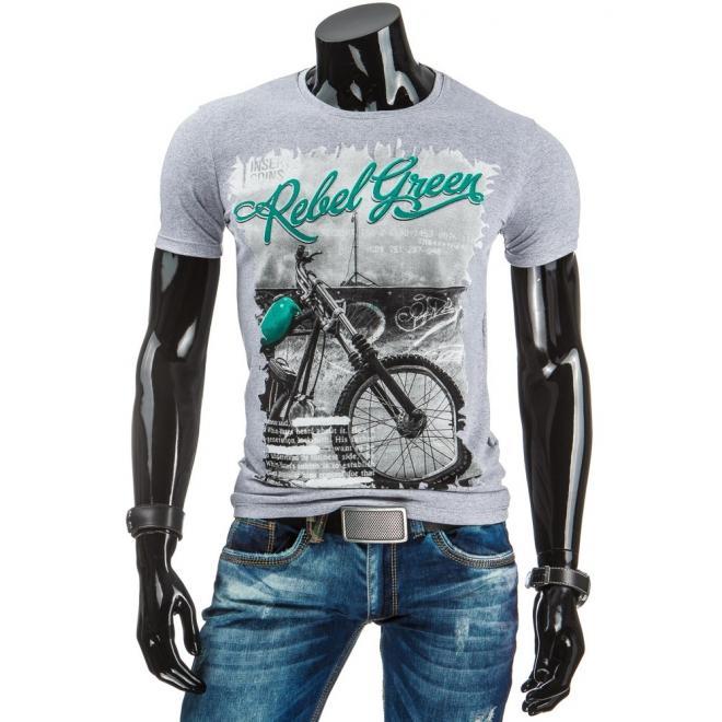 Pánske tričko čiernej farby so štýlovou potlačou