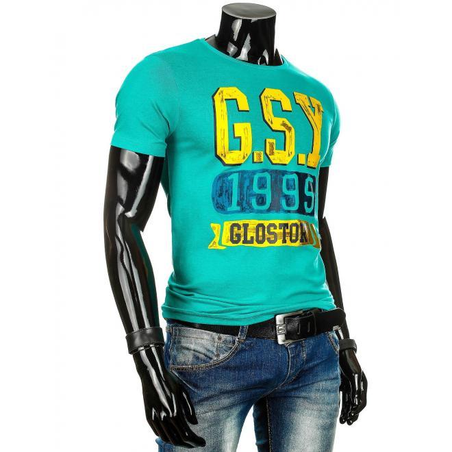 Sivé tričko s potlačou pre pánov