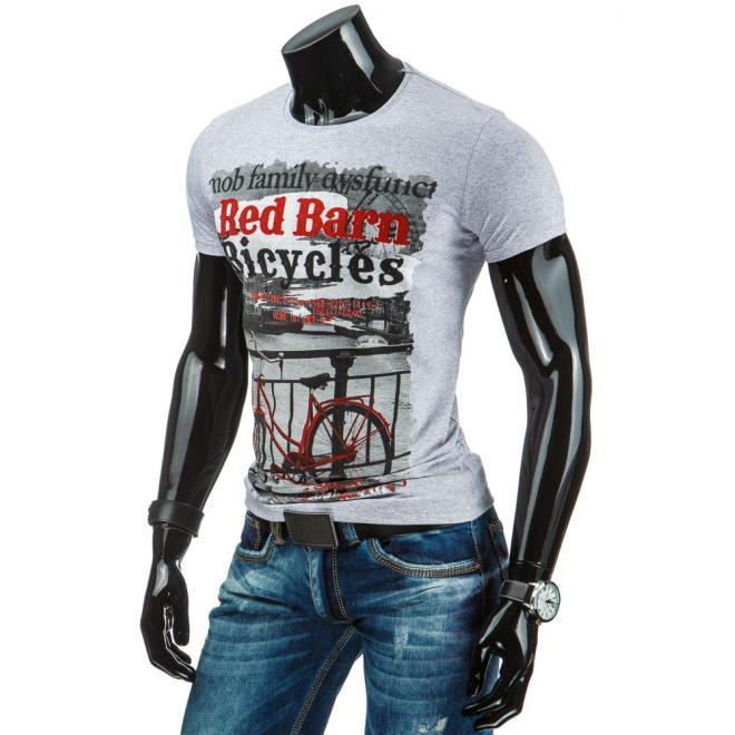 Pánske tričko bielej farby s potlačou