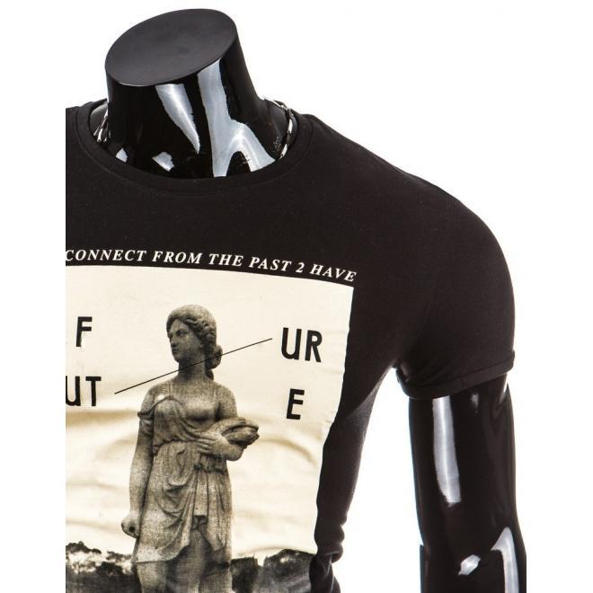 Tričko pre pánov s potlačou v béžovej farbe
