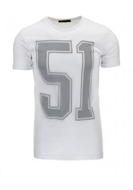 Pánske tričko čiernej farby s béžovou potlačou