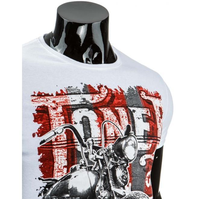 Tričko pre pánov s potlačou v bielej farbe