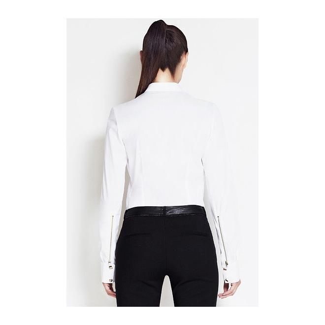 Dámska košeľa s golierom - biela