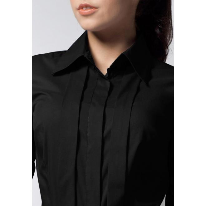Dámska košeľa s dlhým rukávom - čierna