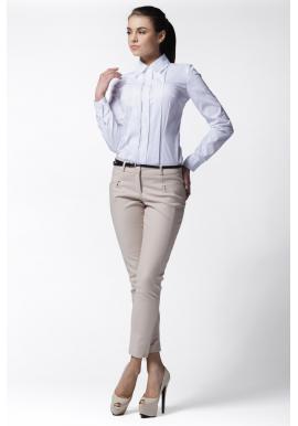 Dámska košeľa s dlhým rukávom - biela