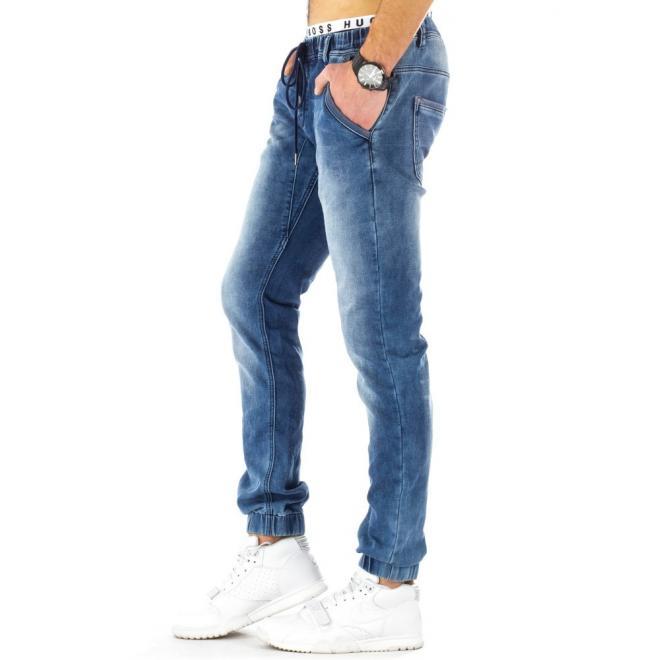 Modré pánske športové nohavice