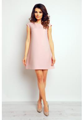 Dámske šaty voľné - pastelovo ružové