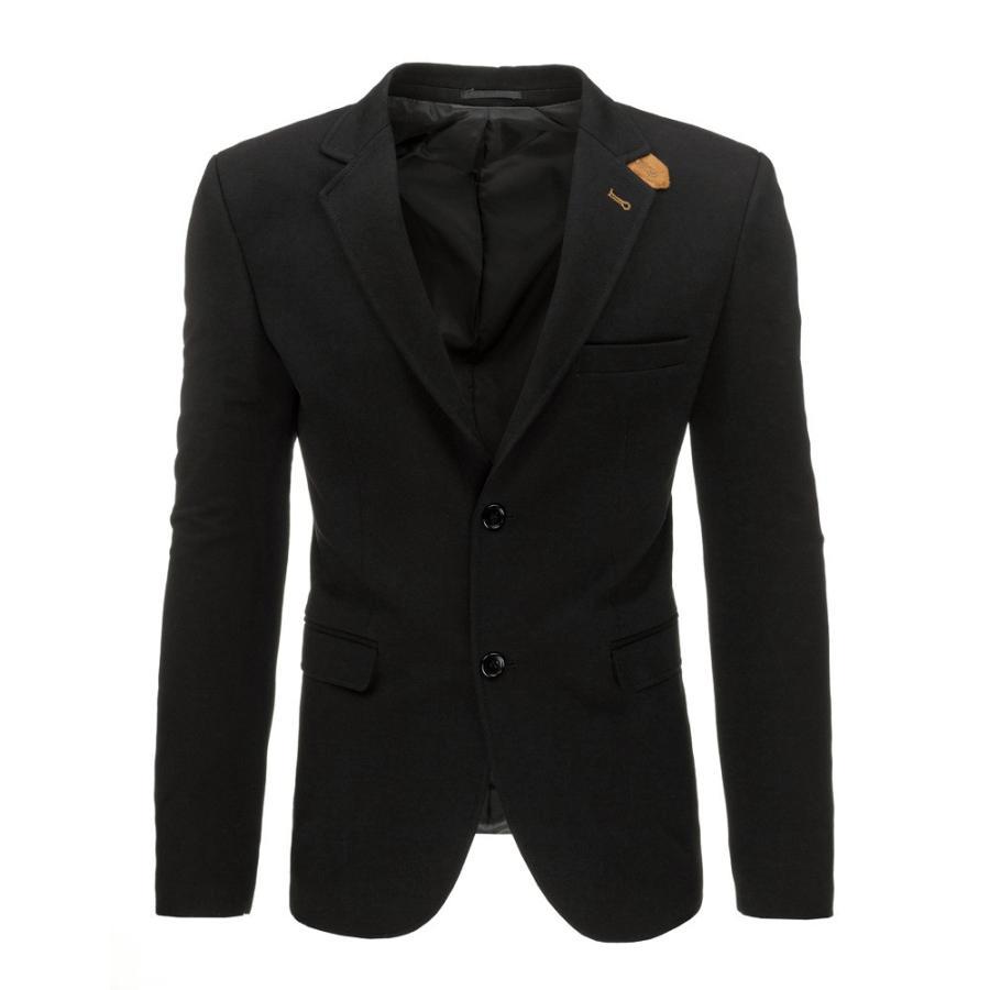 be6b6a6ee41c Elegantné pánske sako čiernej farby s hnedými doplnkami. Loading zoom