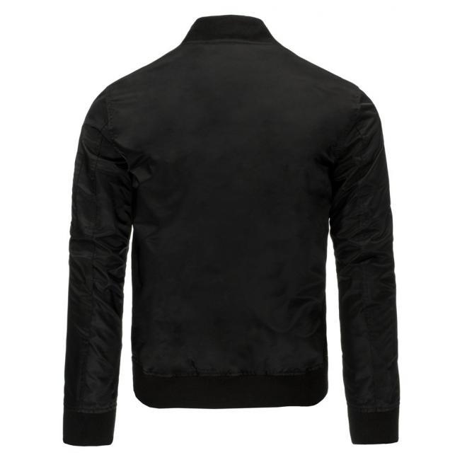 Prechodná bunda Bomber v čiernej farbe pre pánov