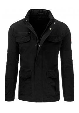 Prechodná tmavomodrá bunda so záplatami na lakťoch