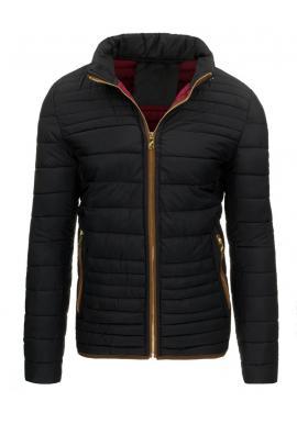 Pánska prešívaná zimná bunda v čiernej farbe