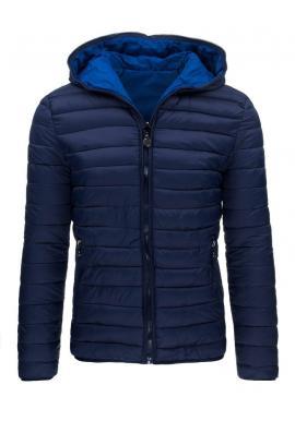 Obojstranná modro-sivá bunda na zimu pre pánov
