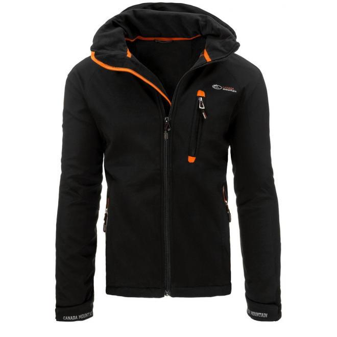 Pánska prechodná bunda s regulovateľným pásom tmavomodrej farby