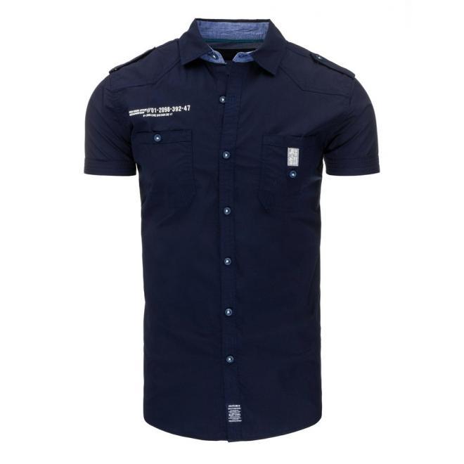 Košeľa pre pánov v bielej farbe s krátkym rukávom