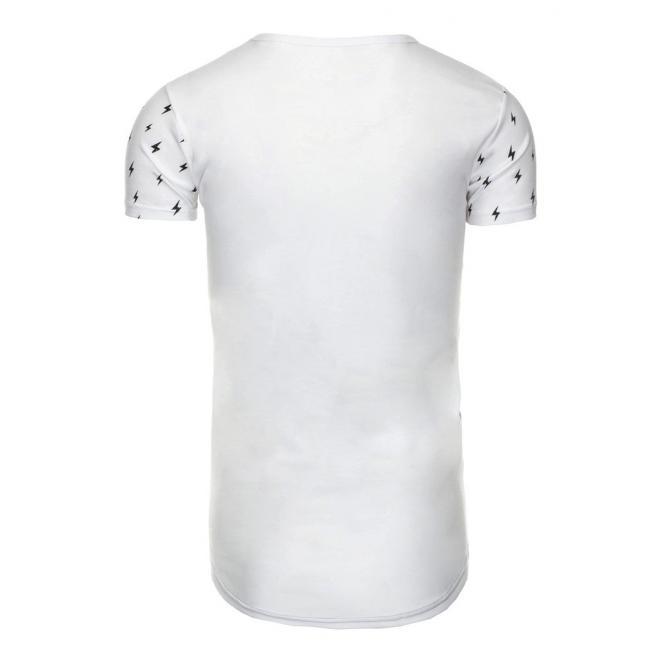 Tričko pre pánov v sivo-čiernej farbe s vreckom na hrudi