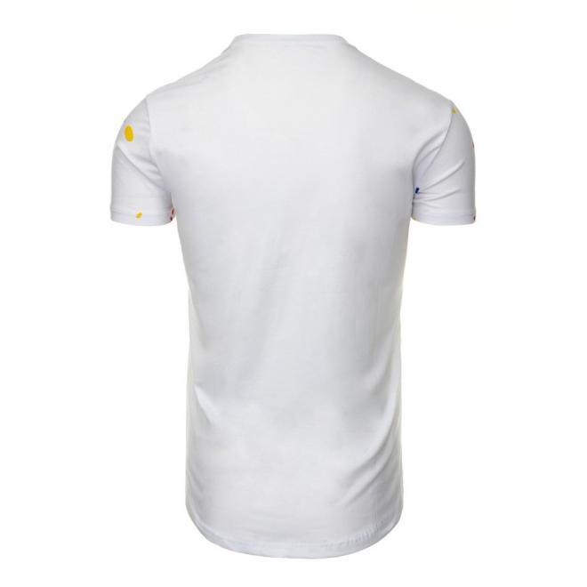 Štýlové tričko pre pánov v čiernej farbe s potlačou
