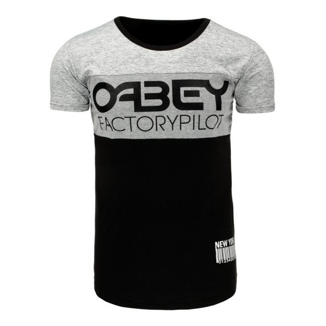Tričko pre pánov v sivej farbe s potlačou