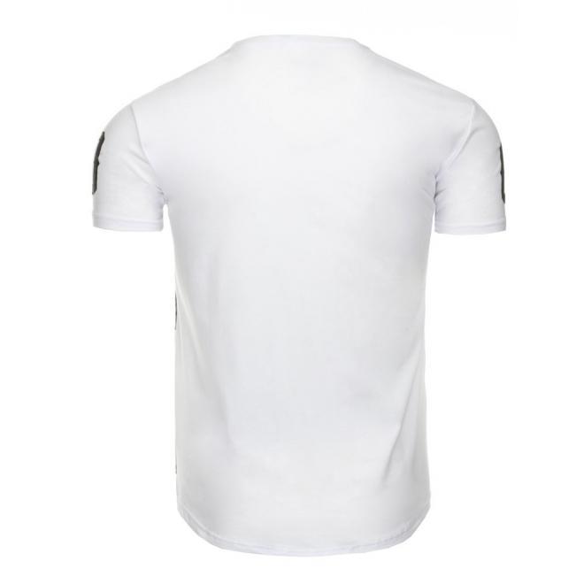 Pánske tričko s maskáčovým motívom v čiernej farbe