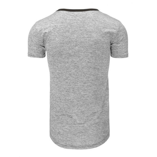 Čierne tričko so štýlovou potlačou pre pánov