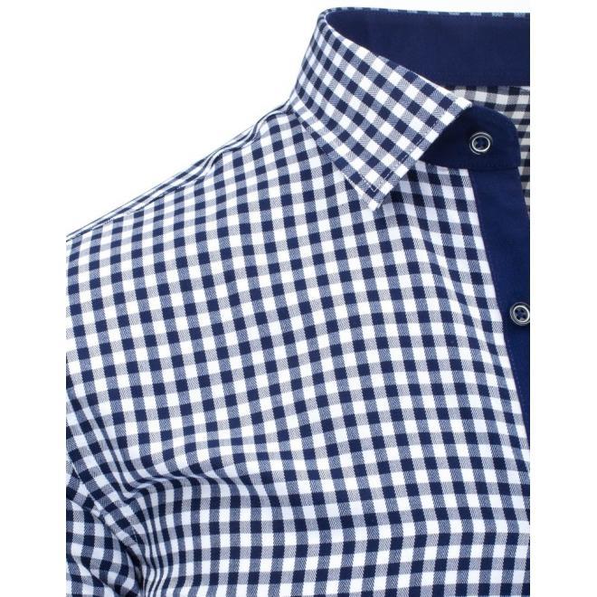 Pánska kockovaná košeľa modro-bielej farby