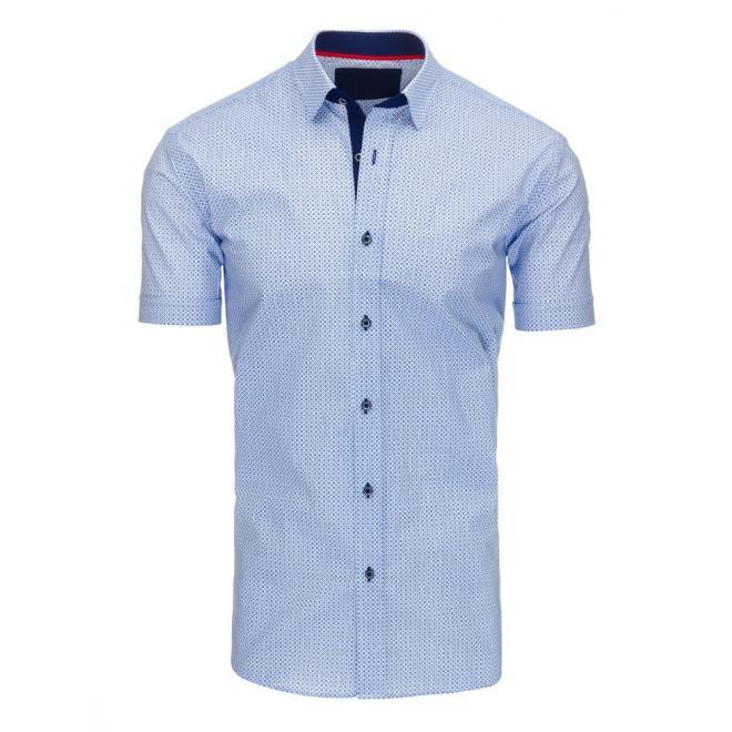 Biela elegantná košeľa so vzorom pre pánov