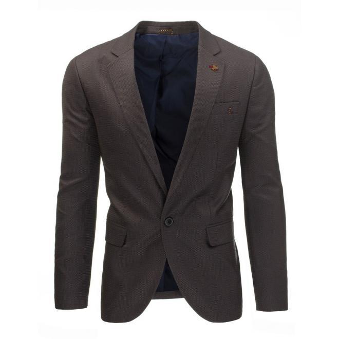Jednoradové pánske sako béžovej farby v neformálnom štýle