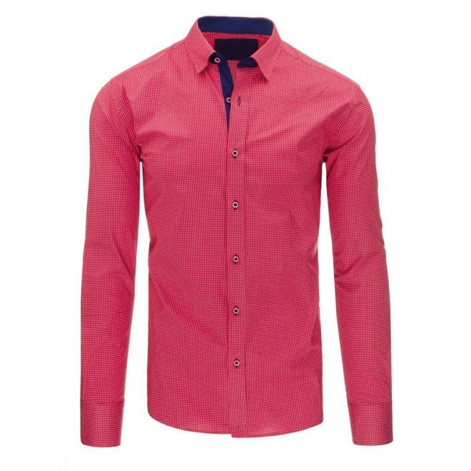 7518ee174921 Elegantné pánske košele ružovej farby so vzorom - skvelamoda.sk