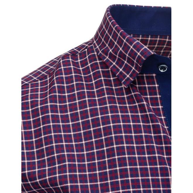Elegantná pánska košeľa tmavomodrej farby s dlhým rukávom