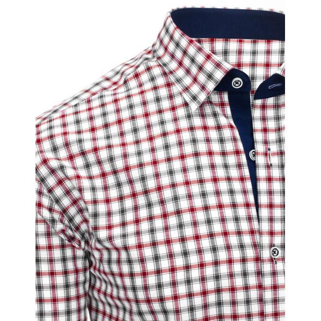 d1c53567b88c ... Elegantná pánska košeľa modro-bielej farby s kockovaným vzorom ...