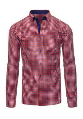 36cd40b39439 Pánska elegantná pásikavá košeľa v modrej farbe ...