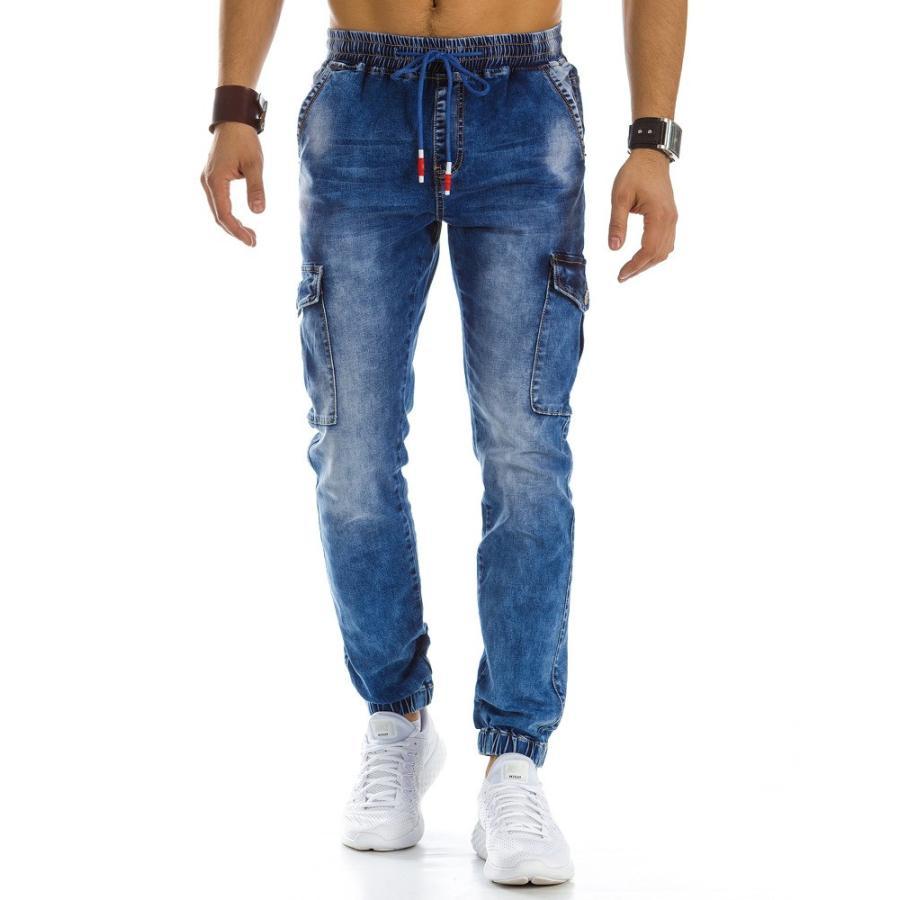 3f56a6d3aad8 Športové pánske nohavice s prešívaním na stehnách v čiernej farbe. Loading  zoom