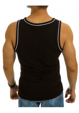 Bavlnené pánske tričká s farebnou potlačou v tmavomodrej farbe