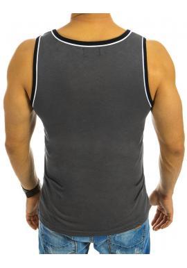 Štýlové pánske tričko s potlačou v tmavomodrej farbe