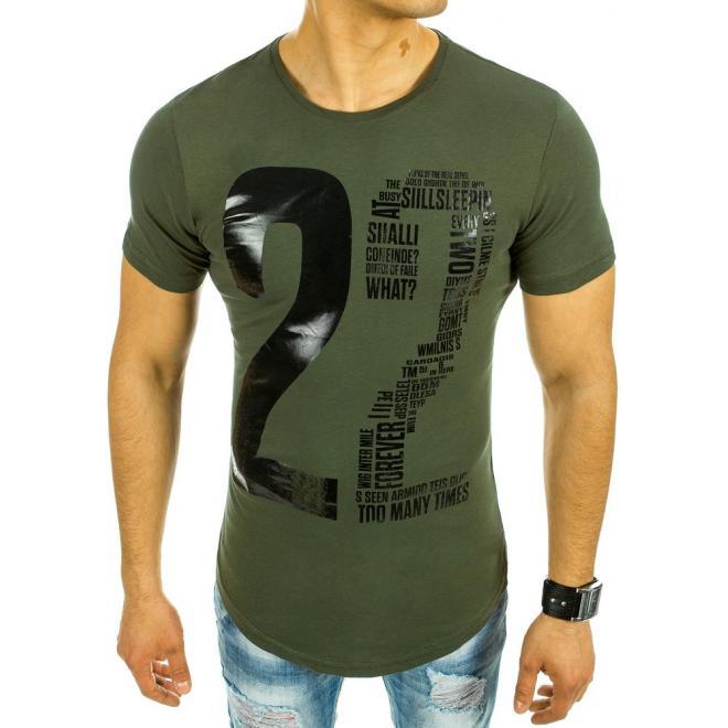 cca7d4103 Pánske športové tričko v zelenej farbe s krátkym rukávom - skvelamoda.sk